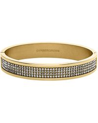 Dyrberg/Kern - Heli Gold Swarovski Bangle - Lyst