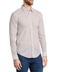 BOSS - Boss Ronni Abstract Print Slim Fit Shirt - Lyst