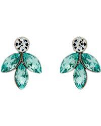 Monet - Navette Drop Stud Earrings - Lyst