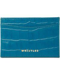 Whistles - Shiny Croc Travel Card Holder - Lyst