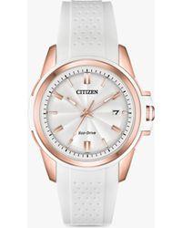Citizen - Fe6136-01a Women's Stiletto Eco-drive Date Silicone Strap Watch - Lyst
