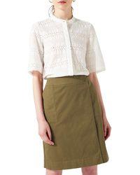 Jigsaw - Zip Detail Skirt - Lyst