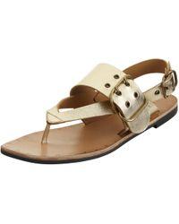 Modern Rarity - Mona Toe Post Buckle Sandals - Lyst