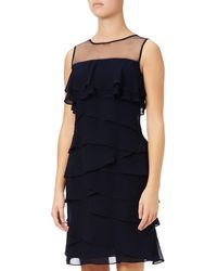 Adrianna Papell - Tiered Sheath Dress - Lyst