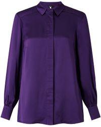 Bruce By Bruce Oldfield - 73 Nyc Silk Satin Shirt - Lyst