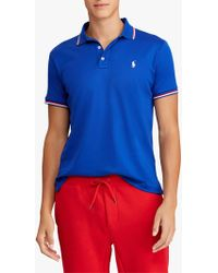1053081bc004af John Lewis and Partners. Ralph Lauren - Polo Custom Slim Polo Shirt - Lyst