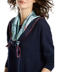 Joules - Bloomfield Nordic Floral Silk Square Scarf - Lyst