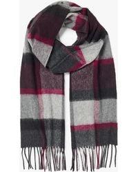 John Lewis - Premium Woven Cashmere Check Scarf - Lyst