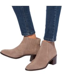 John Lewis - Peter Block Heeled Ankle Boots - Lyst