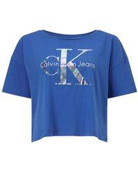 CALVIN KLEIN 205W39NYC - Teca-13 Cropped Logo T-shirt - Lyst