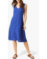 37ae9d99390 White Stuff Rachael Jacquard Jersey Dress in Blue - Lyst