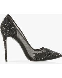 Dune - Black 'brigettee' High Stiletto Heel Court Shoes - Lyst