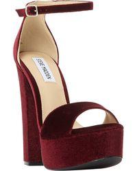 Steve Madden - Gonzo Platform Block Heeled Sandals - Lyst