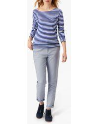 4e4ac825d9d38 Isabella Oliver Karina Polka Dot Cigarette Trousers in Blue - Lyst