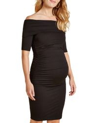 Isabella Oliver - Ruched Clifton Bardot Dress - Lyst