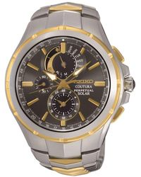 Seiko - Ssc376p9 Men's Coutura Chronograph Two Tone Bracelet Strap Watch - Lyst