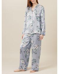 Hobbs - Bloom Print Silk Pyjama Set - Lyst