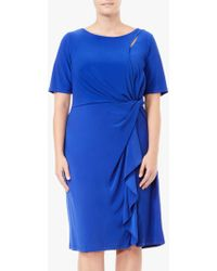 Adrianna Papell - Plus Size Matte Jersey Asymmetric Sheath Dress - Lyst