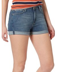 Lee Jeans - High Rise Denim Shorts - Lyst
