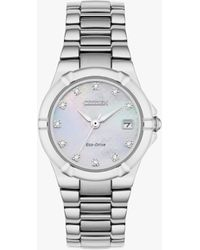 Citizen - Ew1531-55d Women's Diamond Date Bracelet Strap Watch - Lyst