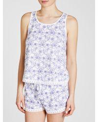John Lewis - Jersey Stitch Floral Vest And Short Pyjama Set - Lyst