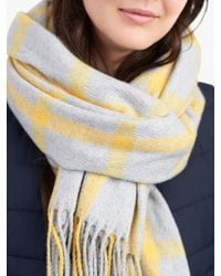 Joules - Briar Window Pane Check Scarf - Lyst
