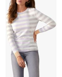 Pure Collection - Colour Block Striped Cashmere Jumper - Lyst