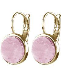 Dyrberg/Kern - Corkin French Hook Round Quartz Drop Earrings - Lyst