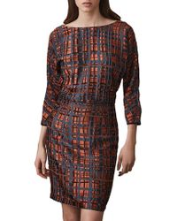 Reiss - Lipa Check Dress - Lyst