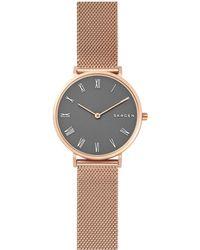 Skagen - Women's Hald Mesh Bracelet Strap Watch - Lyst