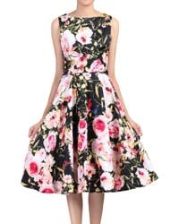 Jolie Moi - Floral Print Crossover Dress - Lyst