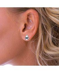John Lewis - Nina B Teardrop Sterling Silver Stud Earrings - Lyst