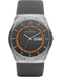 Skagen - Men's Aktiv Titanium Mesh Bracelet Strap Watch - Lyst
