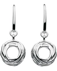 Kit Heath - Sterling Silver Nest Drop Earrings - Lyst