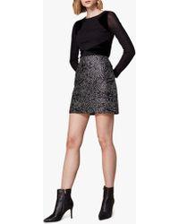 Karen Millen - Stud Embellished Mini Skirt - Lyst
