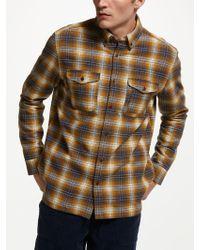 John Lewis - Heavy Ombre Check Shirt - Lyst