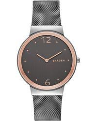 Skagen - Skw2382 Women's Freja Mesh Bracelet Strap Watch - Lyst