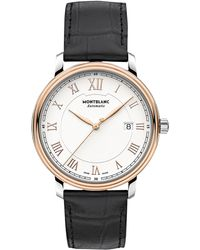 Montblanc - 114336 Men's Tradition Automatic Date Alligator Leather Strap Watch - Lyst
