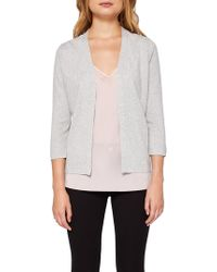 0fed7d6f14e56 Ted baker Faiyly Wrap Cardigan in White