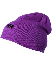 Helly Hansen - Ribbed Logo Beanie Hat - Lyst