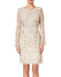 Adrianna Papell - Beaded Short Dress - Lyst