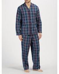 John Lewis - Herringbone Check Brushed Cotton Pyjamas - Lyst