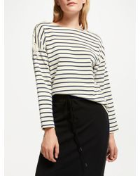 Great Plains - Lace-up Stripe Top - Lyst