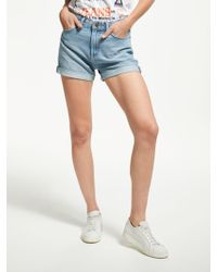 Lee Jeans - Mom Denim Shorts - Lyst