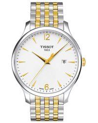 Tissot - T0636102203700 Men's Tradition Date Two Tone Bracelet Strap Watch - Lyst