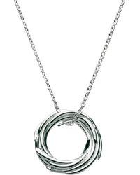 Kit Heath - Sterling Silver Nest Pendant Necklace - Lyst