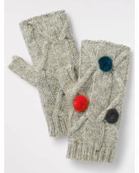 White Stuff - Cable Knit Gloves - Lyst