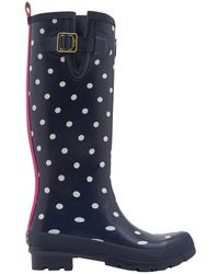 Joules - Welly Print Back Adjustable Tall Wellies - Lyst