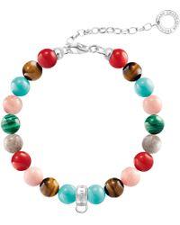 Thomas Sabo - Semi-precious Stone Charm Bracelet - Lyst