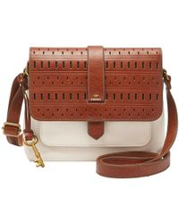 Fossil - Kinley Small Leather Across Body Bag - Lyst